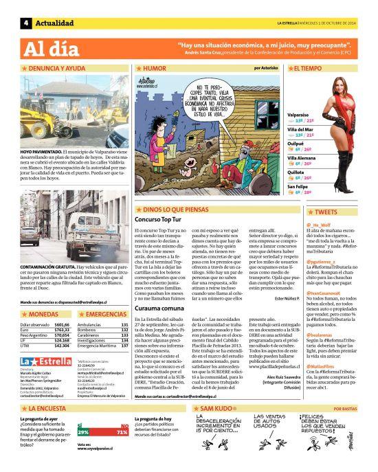 La Estrella de Valparaíso (01/10/2014) página 04