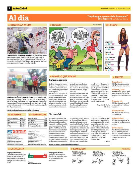 La Estrella de Valparaíso (27/09/2014) página 04