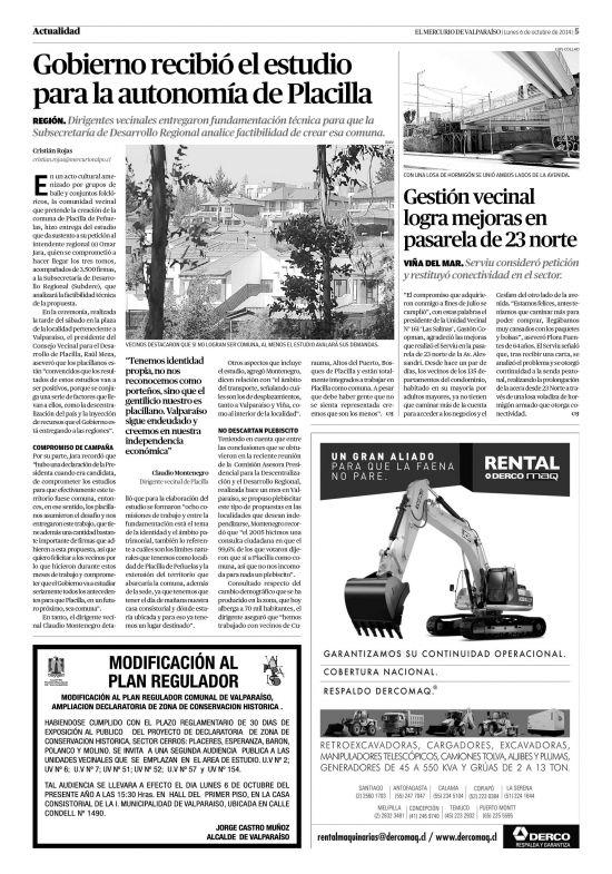 El Mercurio de Valparaíso (06/10/2014) página 05