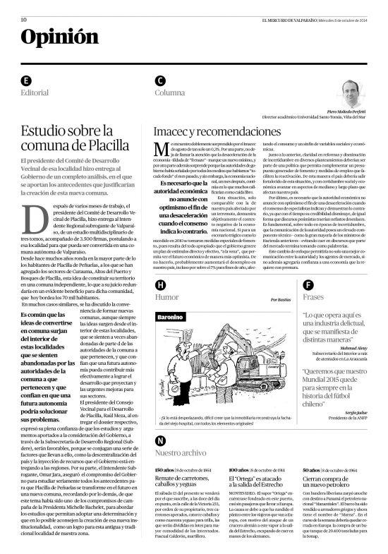 El Mercurio de Valparaíso (08/10/2014) página 10