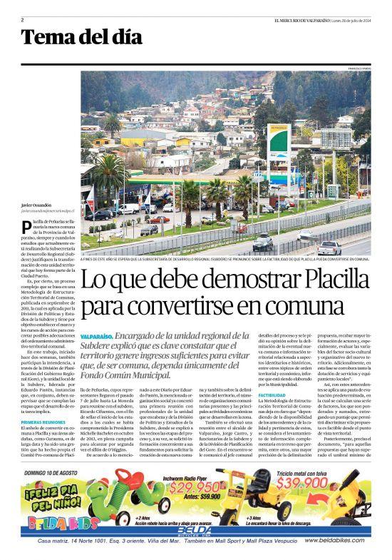 El Mercurio de Valparaíso (28/07/2014) página 2
